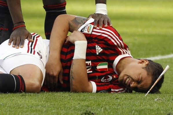 Thiago Silva is back in the game for Milan