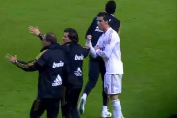 Ronaldo exploded at San Mames, waving offensive gestures