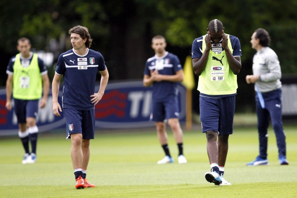 Balotelli left the training of Italy prematurely