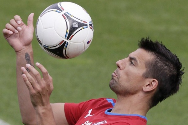 Milan Baros missed the training of the Czech Republic
