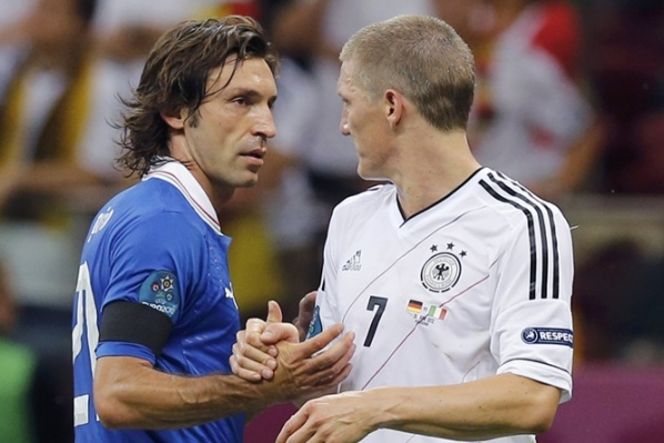 Andrea Pirlo is a player of the match Germany - Italy
