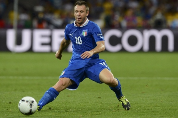 Cassano twisted his knee, but will be ready for the final
