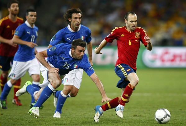 Iniesta was chosen as the best of Euro 2012