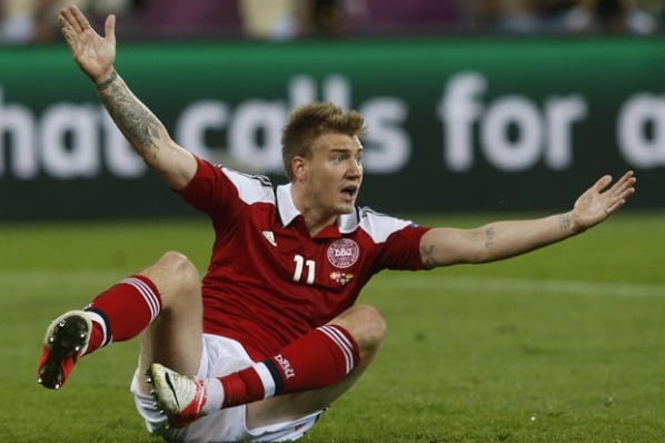 Malaga and Galatasaray are directed to Bendtner