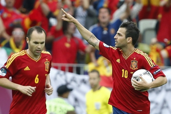 Five Spaniards and without Ronaldo in the perfect composition for Euro 2012