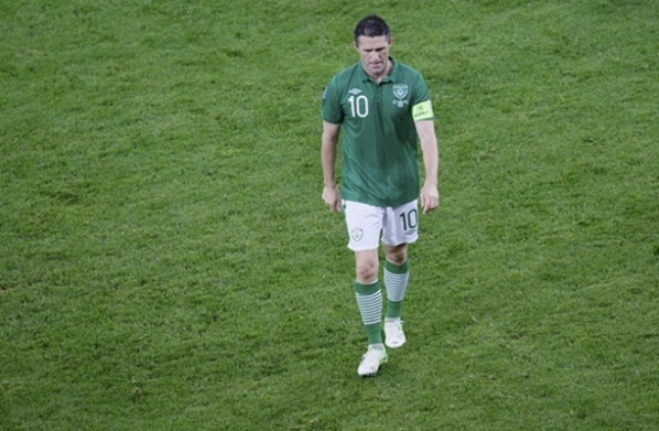 Ireland lost Robbie Keane for the clash with Germany
