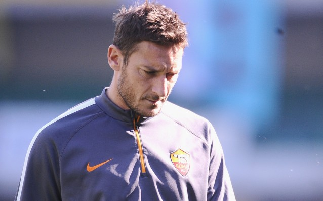 The participation of Totti in the derby against Napoli is questionable