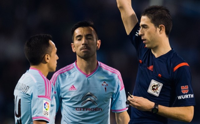 Celta's coach accused an expelled player for the loss of Barca