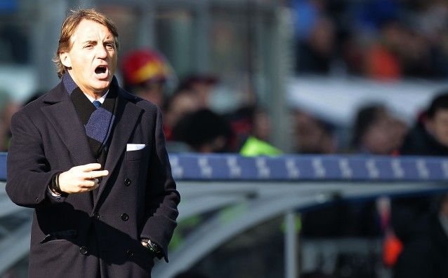 Manchini is furious at the referee in the match against Milan