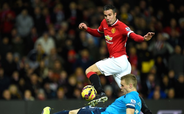 Van Persie returned to play for the youth team of United