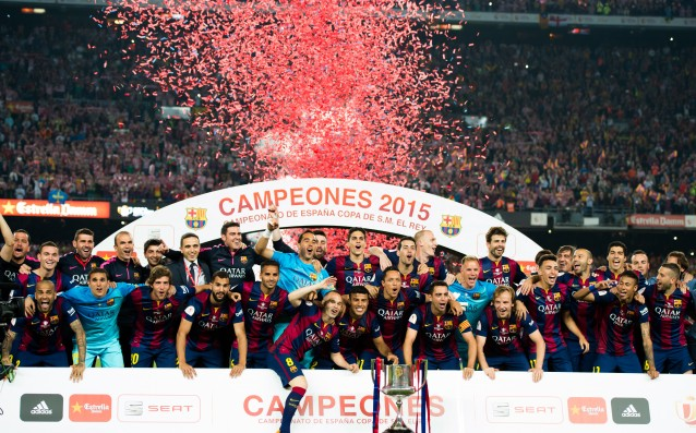 Barcelona celebrated winning the Cup in a fancy restaurant