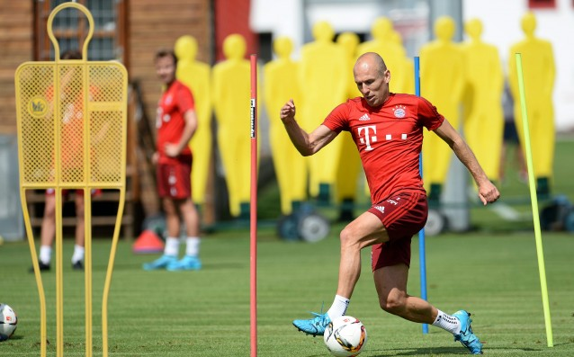 Robben trained equally with his teammates