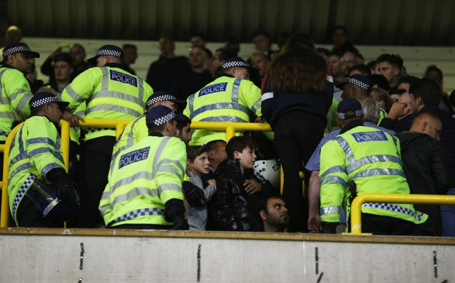 Police warned the fans of Chelsea and Tottenham