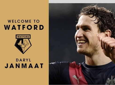 Official: Newcastle sold Janmaat to Watford for 7 million pounds.