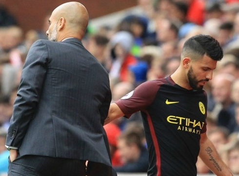 Guardiola is not happy about Sergio Aguero