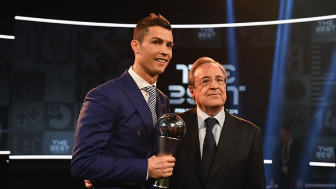 "Florentino Perez: 'I have no doubts that Cristiano will get his fifth ""Golden Ball""!'"
