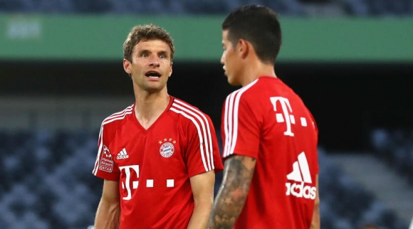 Thomas Muller does not think of James as a competition
