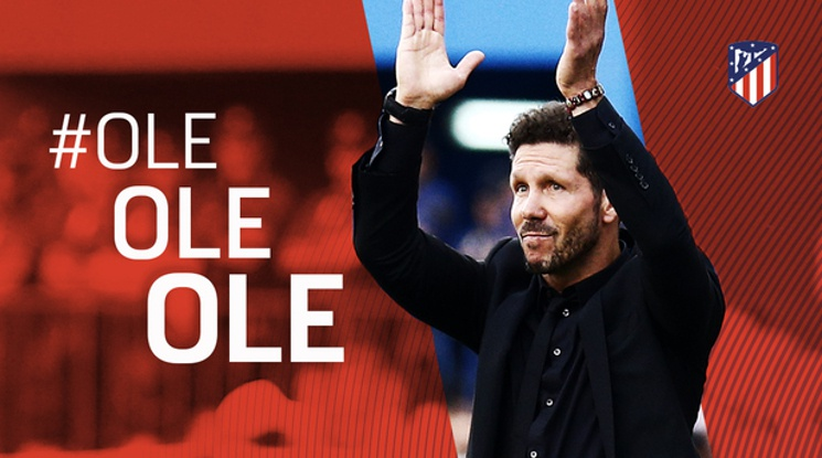 Diego Simeone re-signed his contract with Atletico Madrid